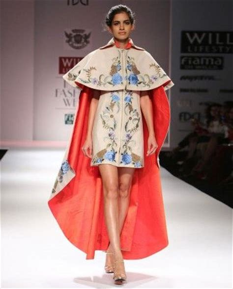 cape designs floral embroidered cape dress by samant chauhan