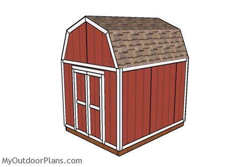 8 X 10 Gambrel Shed Plans by 8x10 Gambrel Shed Plans Myoutdoorplans Free