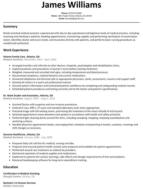 Assistant Resumes by Assistant Resume Sle Resumelift