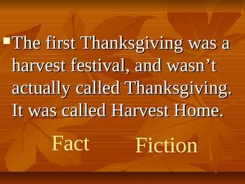 thanksgiving fact  fiction game  katie