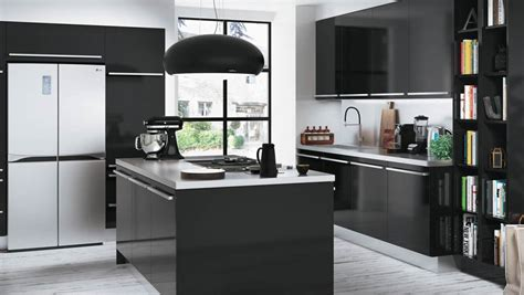 meuble de cuisine noir et blanc quelle couleur accorder avec une cuisine