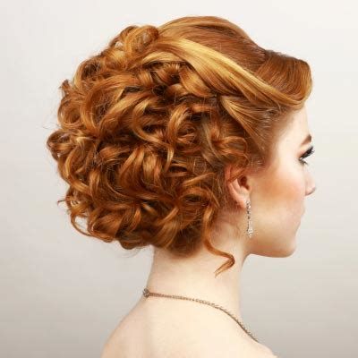curly prom updo hair