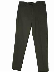 1960's Retro Pants: Early 60s -Harris Slacks- Mens olive