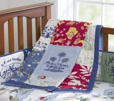 Pottery Barn Surf Bedding by Pottery Barn Blue Island Surf Crib Quilt Bedding
