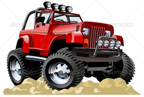 jeep cartoon offroad vector cartoon jeep by mechanik graphicriver