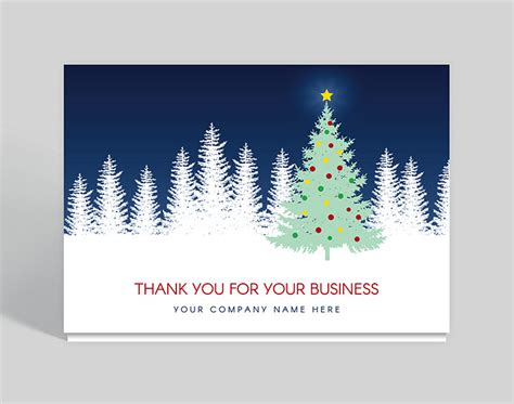 Evening Star Thank You Christmas Card, 1028012 Business Card Logo Design Price Template Free Print Fit Printing Kit Material Visiting Maker Android App Meaning Holder Width Murah Johor