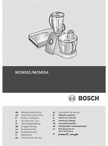 Bosch Mcm5530gb Operating Instructions Manual Pdf Download