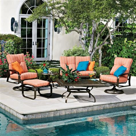 woodard cayman isle cushion 6 patio set wd cayman set1