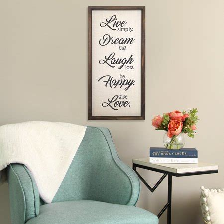 """This piece compliments any decor style, and makes a wonderful housewarming, wedding or anniversary gift. Stratton Home Decor """"Live, Dream, Laugh, Happy, Love"""" Wall Decor - Walmart.com - Walmart.com"""