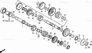 Honda Motorcycle 1982 Oem Parts Diagram For Transmission