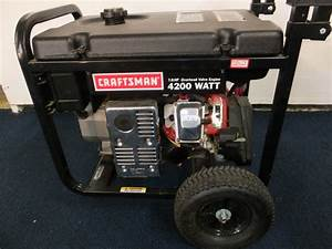 Owners Manual For Craftsman 4200 Power Generator