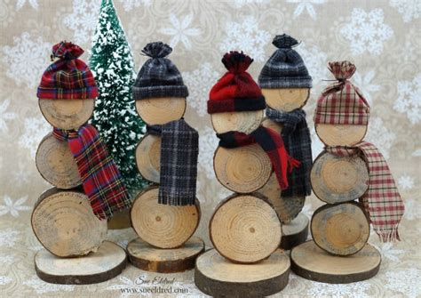 how to make wood slice snowmen sue s creative workshop