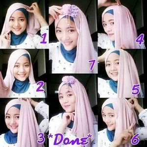 tutorial hijab pashmina simple elegan glamour