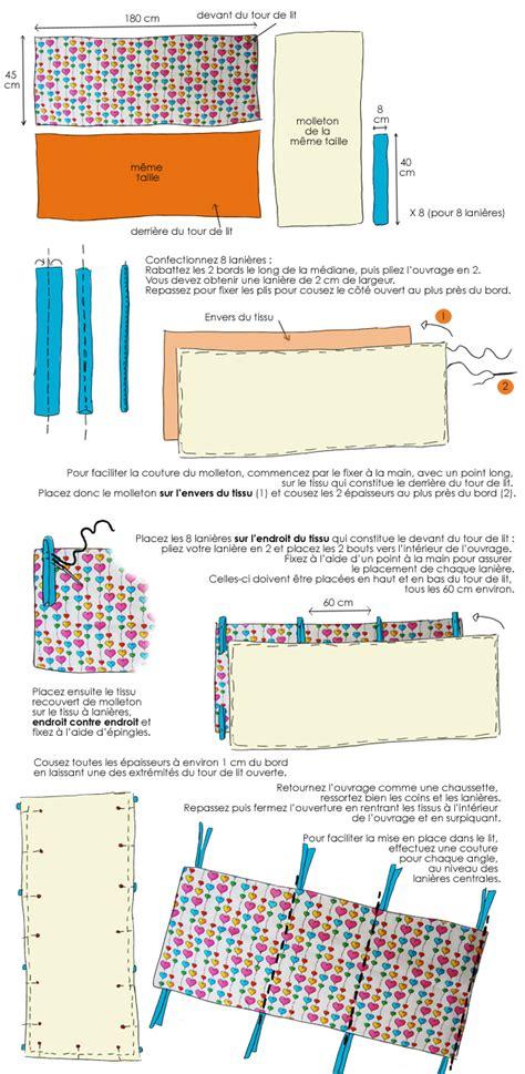 en dessin confectionnez un tour de lit pour votre enfant