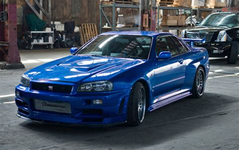 blue nissan skyline fast and furious fast and furious 4 nissan skyline stolen autoevolution