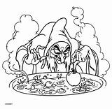 Witch Coloring Pages Coloringpages1001 sketch template