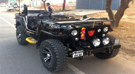 indian army jeep modified modified open jeeps of india