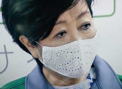 小池 百合子 マスク 型紙