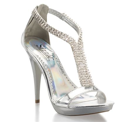 Silver 2013 Coloriffics High Heel Prom Shoe with ...