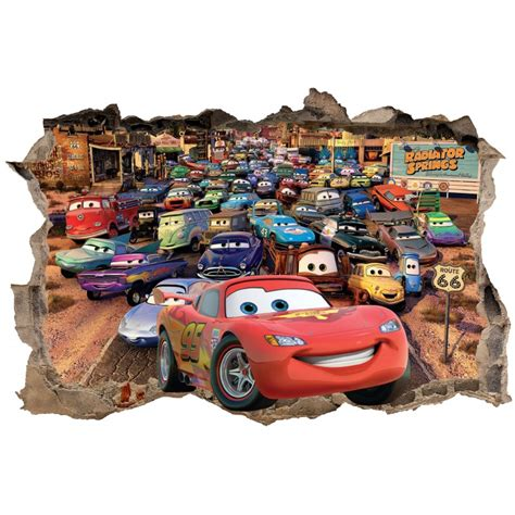 stickers 3d trompe l oeil cars r 233 f 23243 stickers muraux