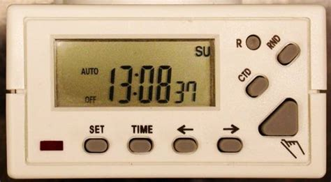 Homebase Electronic Timer Operation Instructions