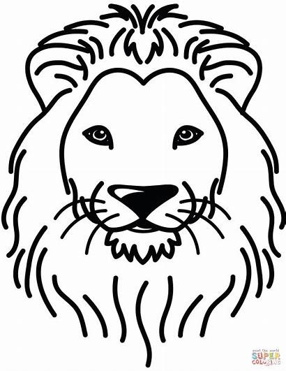 Lion Coloring Pages Lions Printable Face Portrait