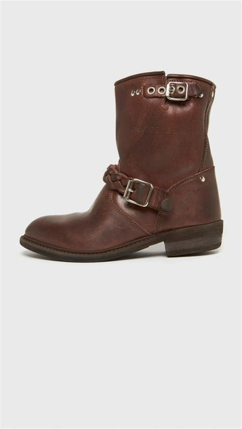 short biker boots golden goose deluxe brand short biker boot in brown lyst