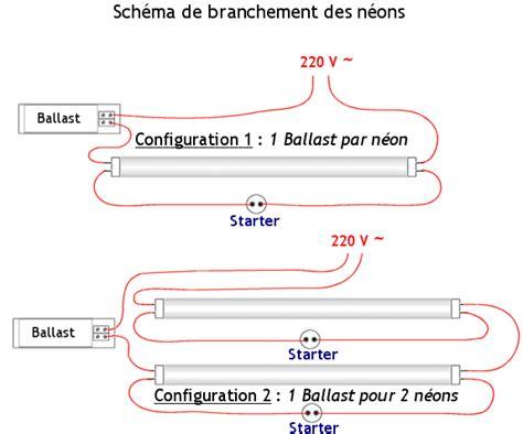 schema branchement neon en parallele