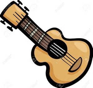 Cartoon Acoustic Guitar Clip Art