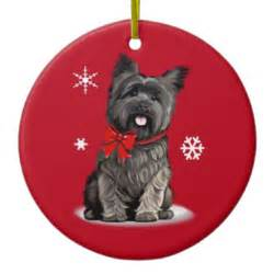 cairn terrier at christmas ceramic ornament zazzle