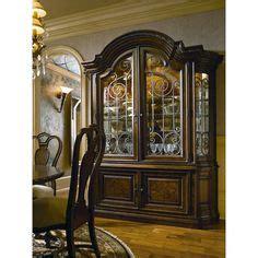art furniture  world formal china cabinet  glass