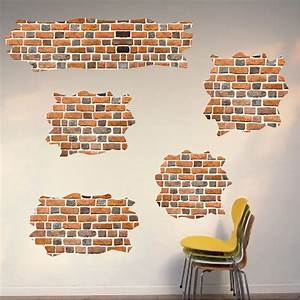 Brick self adhesive wall decals brick wallpaper decal for Brick wall decal
