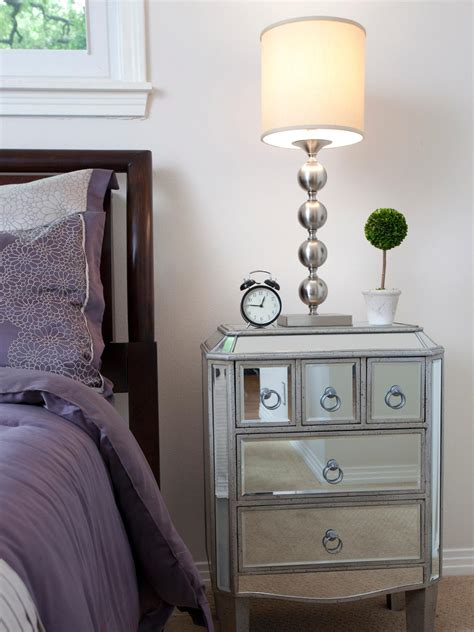 decorating marvelous mirrored nightstand   antique