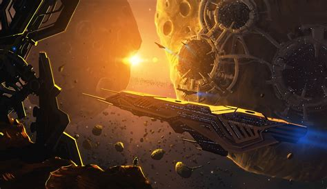 science fiction concept for titan a e by sci fi spacecraft mine titan 27 c picture 2d sci fi space spaceships