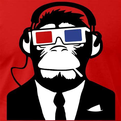 black pillow cases 3d ape monkey electro motive headphones t shirt
