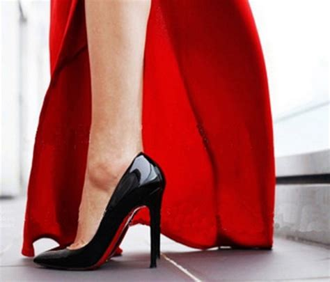 high heels schwarz rote sohle