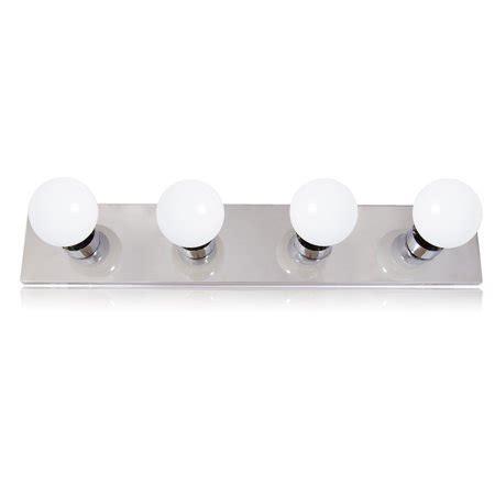 4 Bulb Bathroom Light Fixtures by Maxxima 4 Bulb Bathroom Vanity Light Fixture Chrome