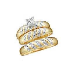 trio wedding ring sets wedding trio rings set with 1 carat total weight for him and jewelocean