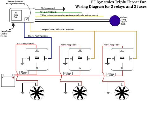 Work And Play Wiring Diagram by Ff Dynamics Threat Fan Wiring Diagram With 3 Relays