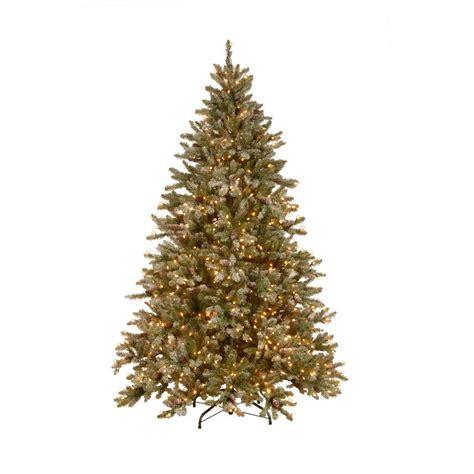 national tree company 7 5 ft pre lit snowy pine