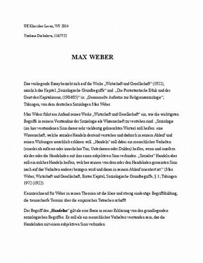 Essay Weber Soziologische Grundbegriffe Academia