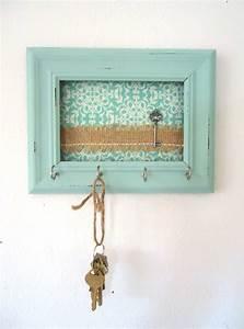 Shabby Chic Hooks : key holder wall hook shabby chic frame home decor organization tiffany blue 5 silver hooks ~ Markanthonyermac.com Haus und Dekorationen
