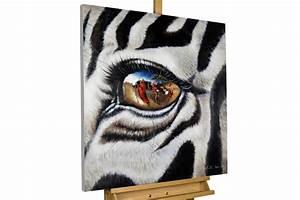 Bilder Schwarz Weiß Gemalt : acryl gem lde 39 zebra afrika motiv 39 handgemalt leinwand bilder 80x80cm ebay ~ Eleganceandgraceweddings.com Haus und Dekorationen