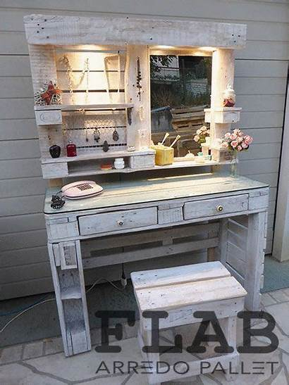 Pallet Vanity Bedroom Tarimas Bed Furniture Muebles