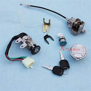 New 5 Wire Key Ignition Switch Set Scooter Moped 125cc