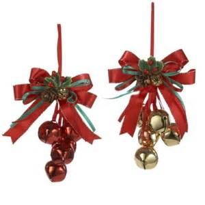 club pack of 24 bell and bow christmas ornaments item j5001 features red and gold bell