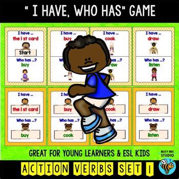 action verbs game      busy bee studio tpt