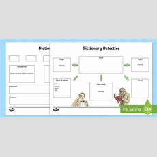 Dictionary Detective Worksheet  Worksheet  Literacy, Dictionary, Word