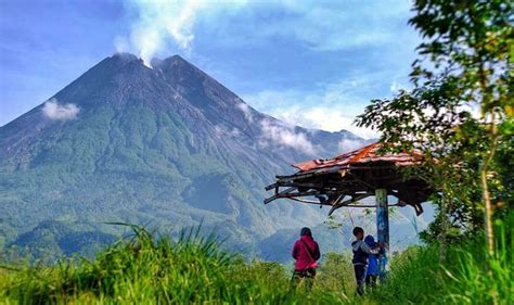objek wisata lereng gunung merapi  seru hits