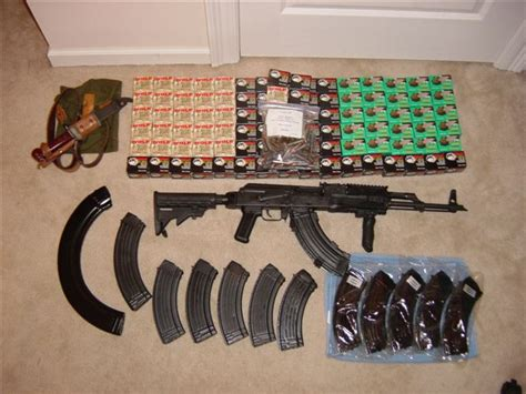 Sold!!!!!!!!!!!ak-47, Mags, And Ammo Package Sold